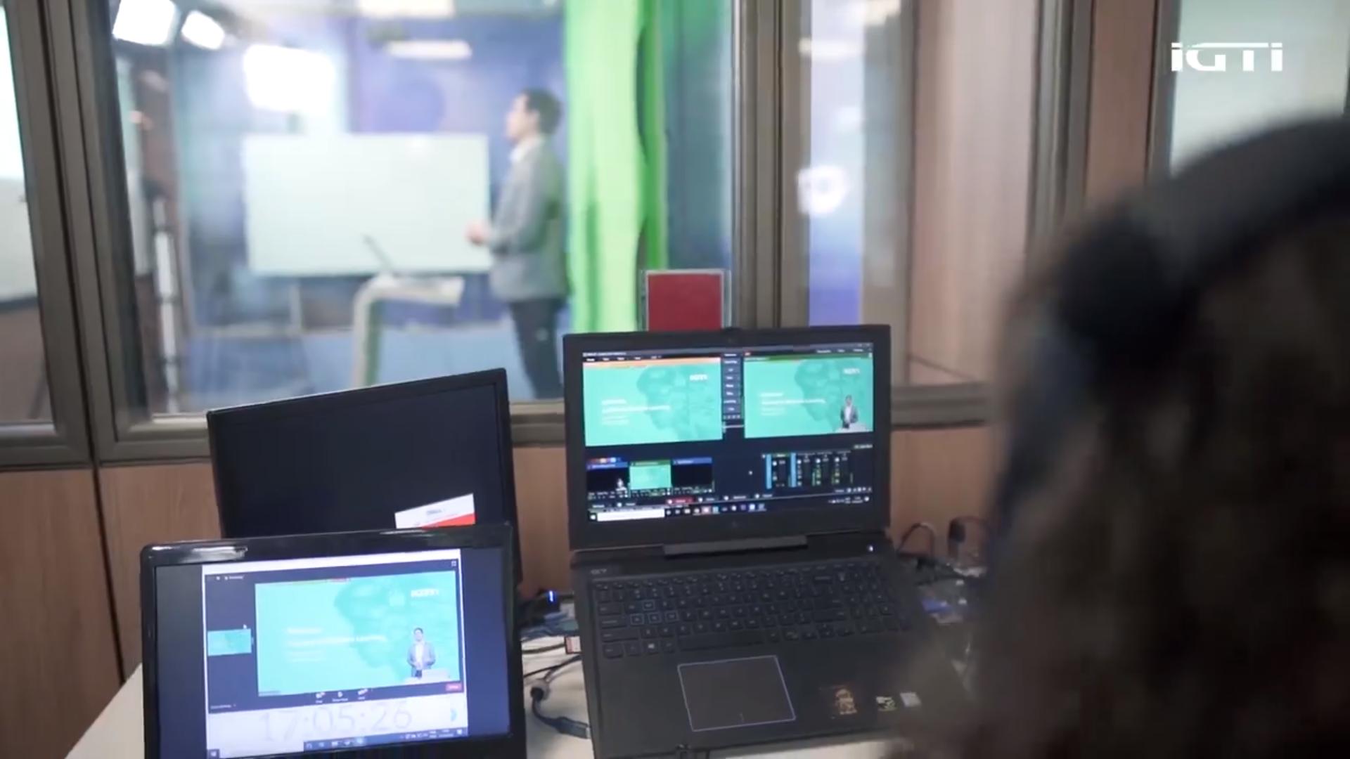 Aulas online do IGTI são interativas e transmitidas ao vivo