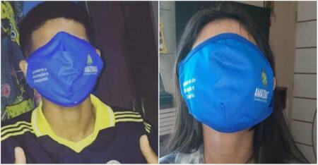 máscara gigante