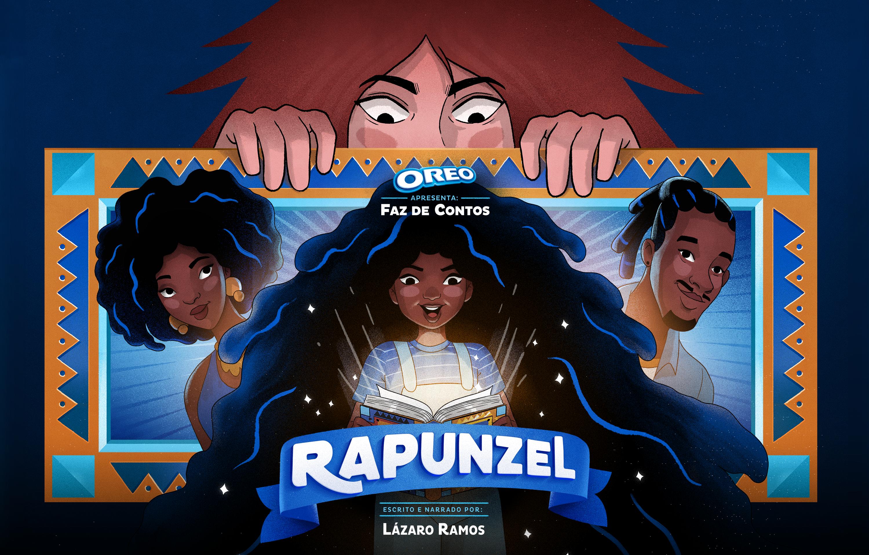 """Capa do conto de Rapunzel para o projeto """"Oreo Faz de Contos"""""""