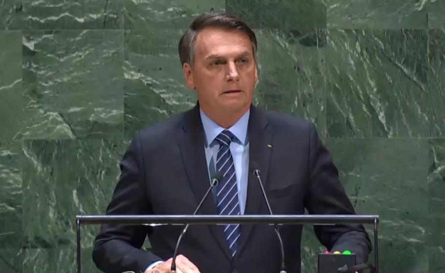 jair bolsonaro em discurso na Assembleia Geral da ONU