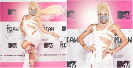 Pabllo Vittar no tapete do MTV Miaw