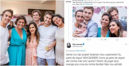 Tatá Werneck rebate boatos de jornal: 'Vão acabar f*dendo meu casamento'