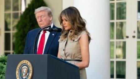 Trump e Melania covid-19