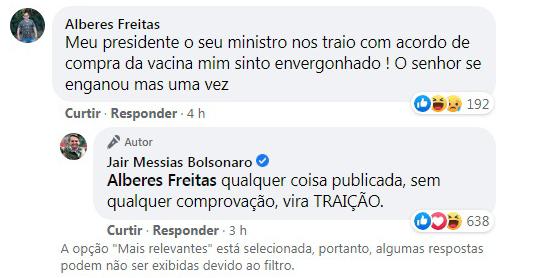 Bolsonaro não vai comprar vacina