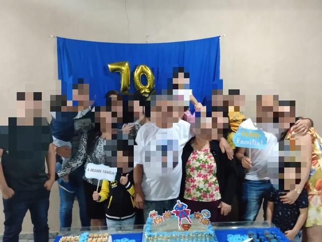 Festa em família termina com 16 infectados com covid-19