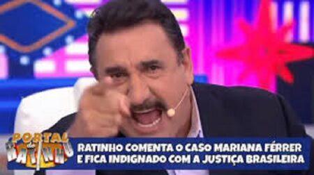 Ratinho se revolta com caso Mari Ferrer e diz que 'caparia o estuprador'