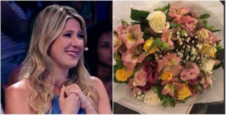 Após repercussão do caso Melhem, Dani Calabresa recebe flores em casa