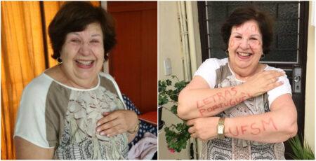 Curada do câncer, aposentada de 72 anos é aprovada em vestibular da UFSM