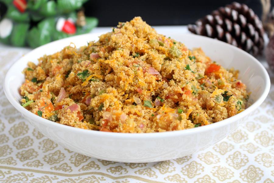 Farofa vegetariana deliciosa e prática