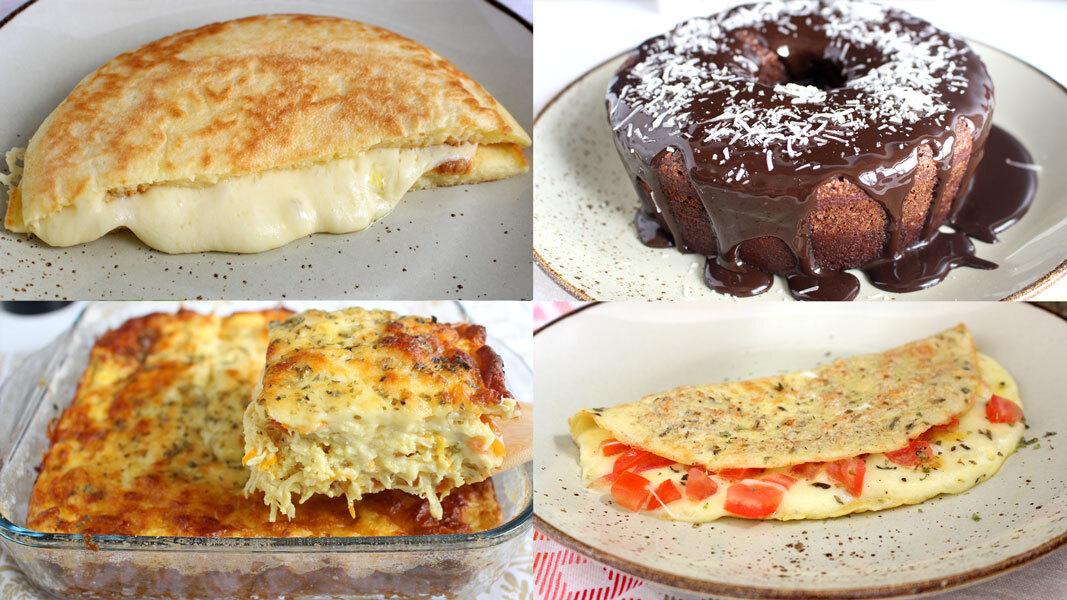 4 receitas sem farinha de trigo