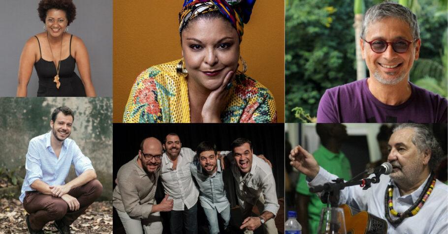 Nilze Carvalho, João Cavalcanti, Fabiana Cozza, Casuarina, Zé Renato e Mocyr Luz