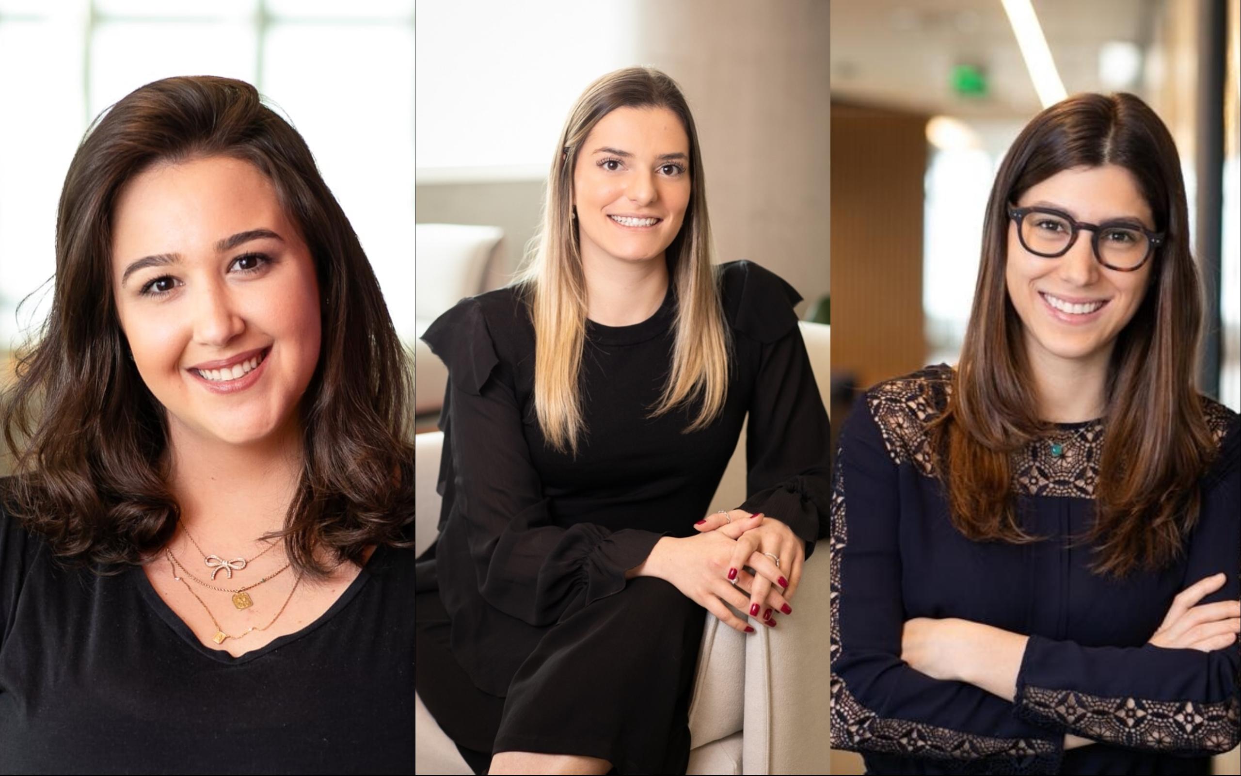 Ana Luisa Monteiro, Marcella Ungaretti e Beatriz Vergueiro trabalham para que mais mulheres assumam posições de liderança na XP Investimentos