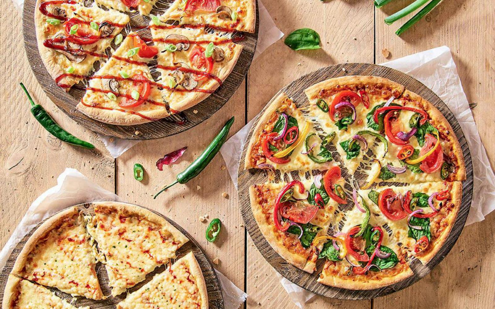 Pizzas veganas lançadas pela Domino´s na Austrália