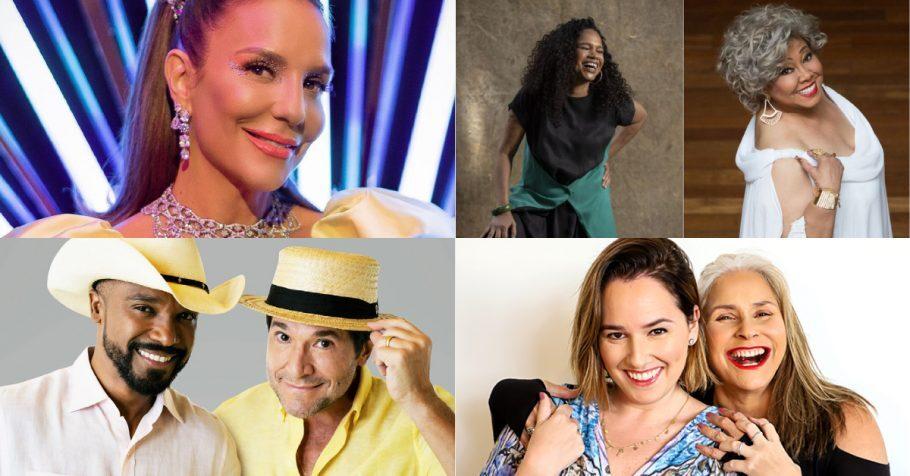 Ivete Sangalo, Teresa Cristina, Alcione, Daniel, Alexandre Pires, Mariana Belém e Fafá de Belém - lives Dia das Mães