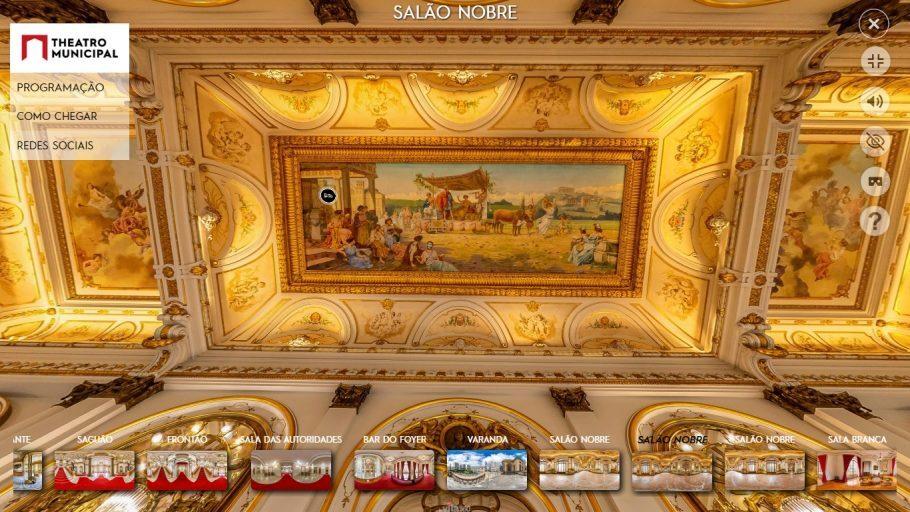 Theatro Municipal tour virtual