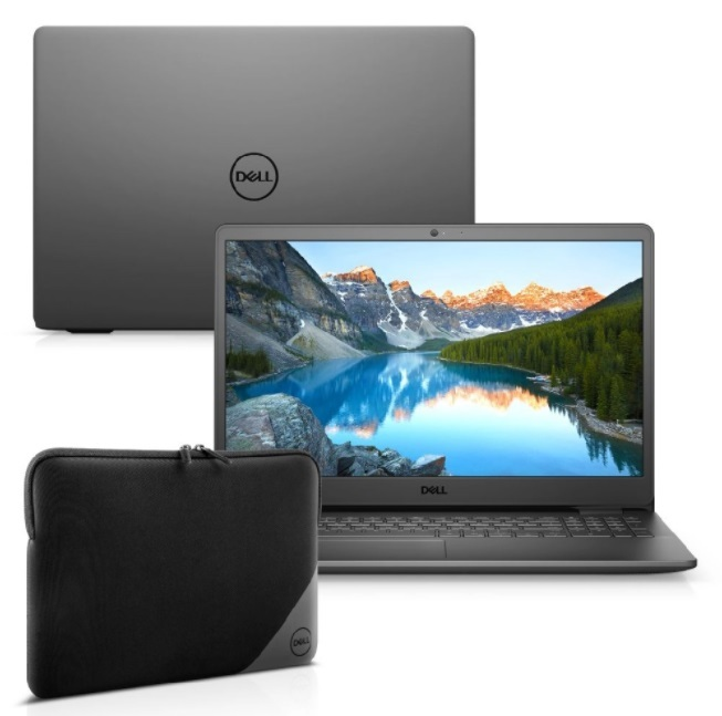 "Kit Notebook Dell Inspiron i3501-M25PC 15.6"" HD 10ª Ger. Intel Core i3 4GB 256GB SSD Windows 10 Preto + Capa Essential - R$ 3.805,00"
