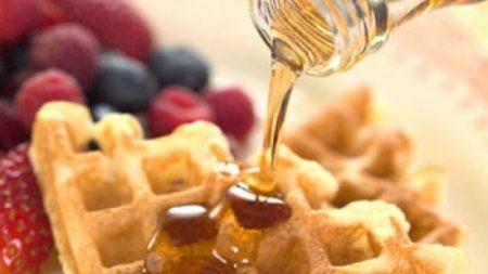 Waffle com cobertura