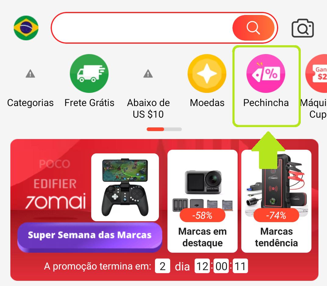 O Pechincha é uma ferramenta que fica na aba superior do menu do marketplace e funciona basicamente como um jogo no qual você precisa contar com a participação de seus amigos