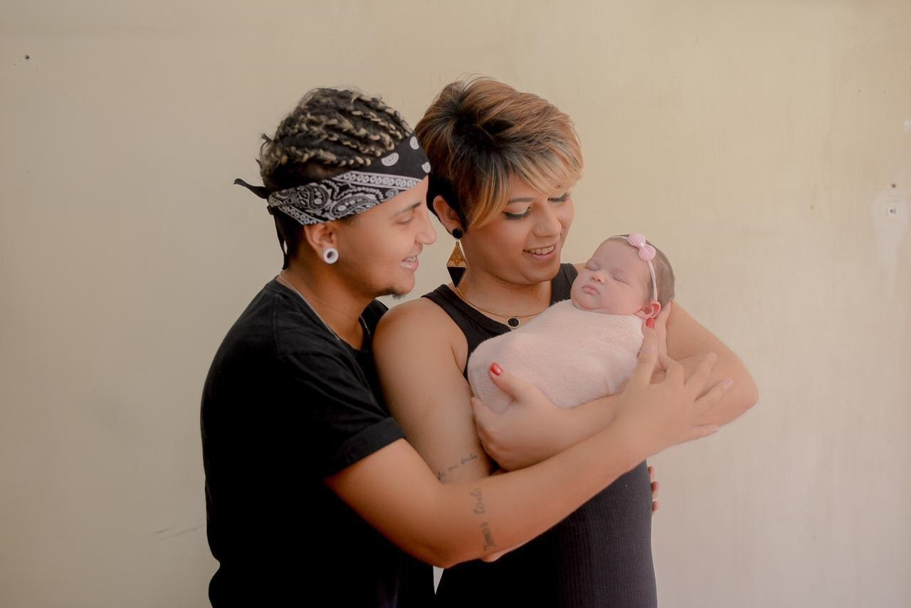 Família junta: Rodrigo, Fabiana e Alex posam para foto