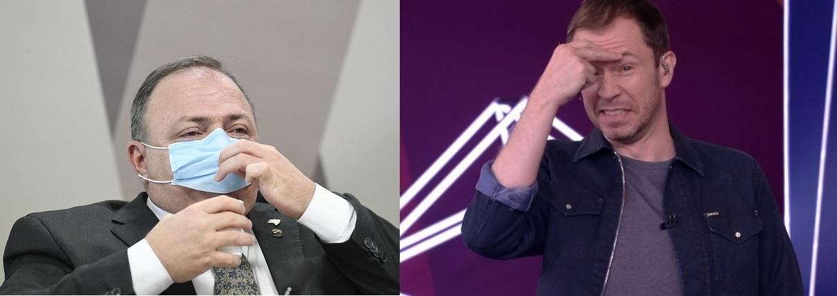 Tiago Leifert e Eduardo Pazuello