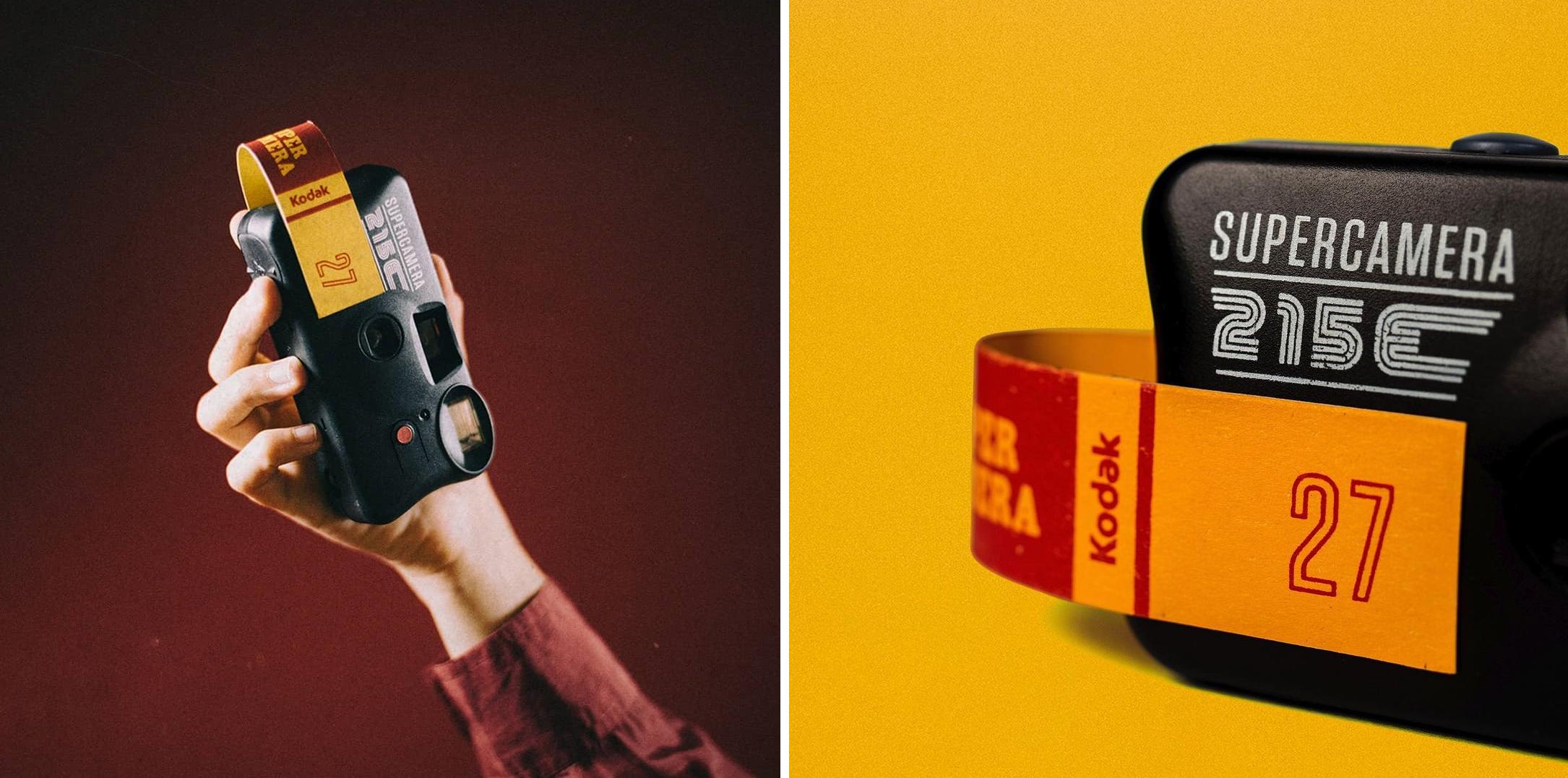 A Supercamera 215E é um projeto sustentável da marca e calcado na economia circular, já que dá novo uso a câmeras descartáveis