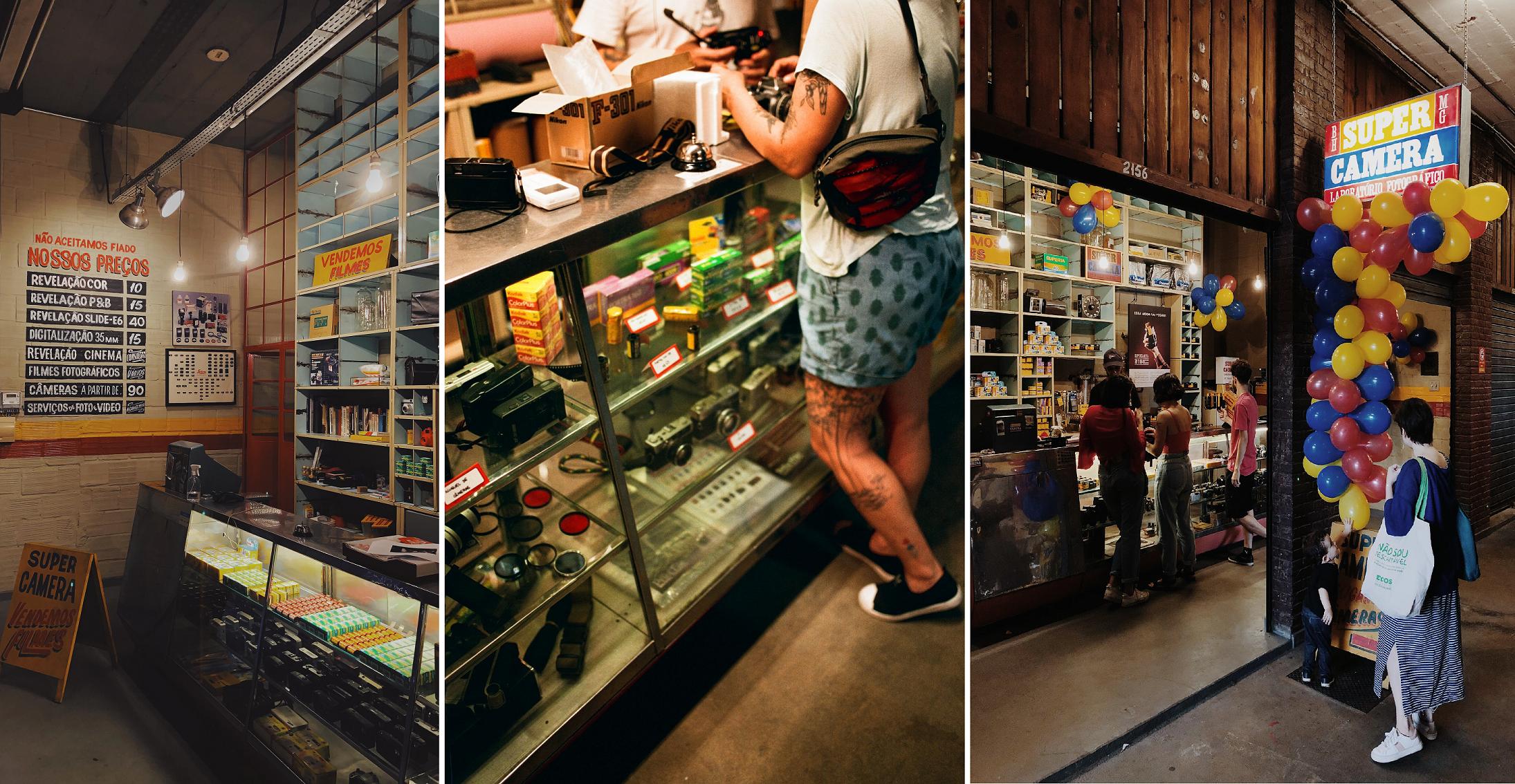 O ambiente da loja da Super Camera no Velho Mercado Novo é um sonho pra qualquer apaixonado por fotografia analógica