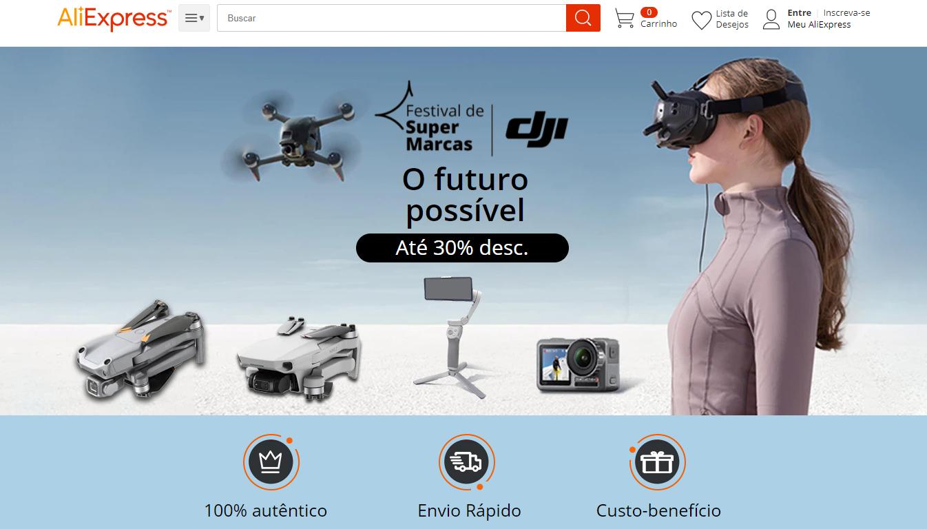 Até o dia 3 de junho o AliExpress está oferecendo até 30% de descontos em produtos da DJI