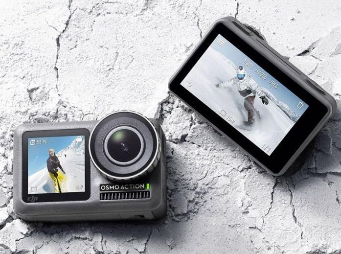 A câmera de ação Osmo Action sai na promoção por R$ 1.530,55 no standart set, ou seja, seu kit mais básico