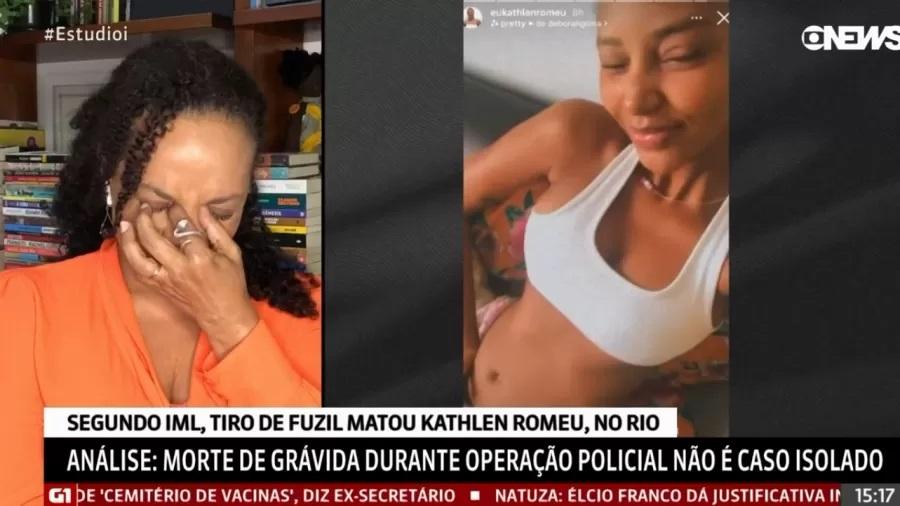 Jornalista Flávia Oliveira e Kathlen em stories do Instagram
