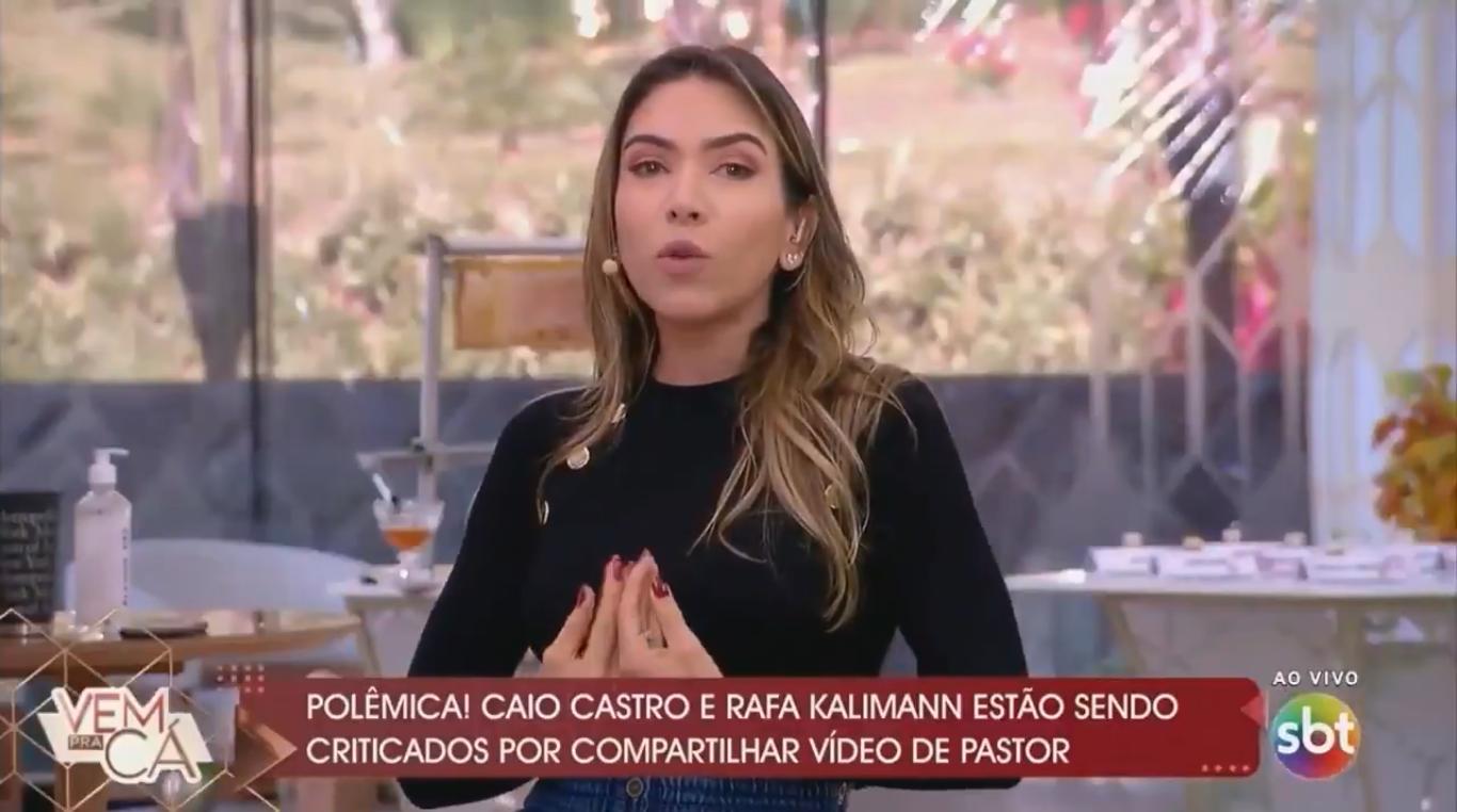 Patrícia Abravanel defende o 'direito' de ser homofóbico e web detona