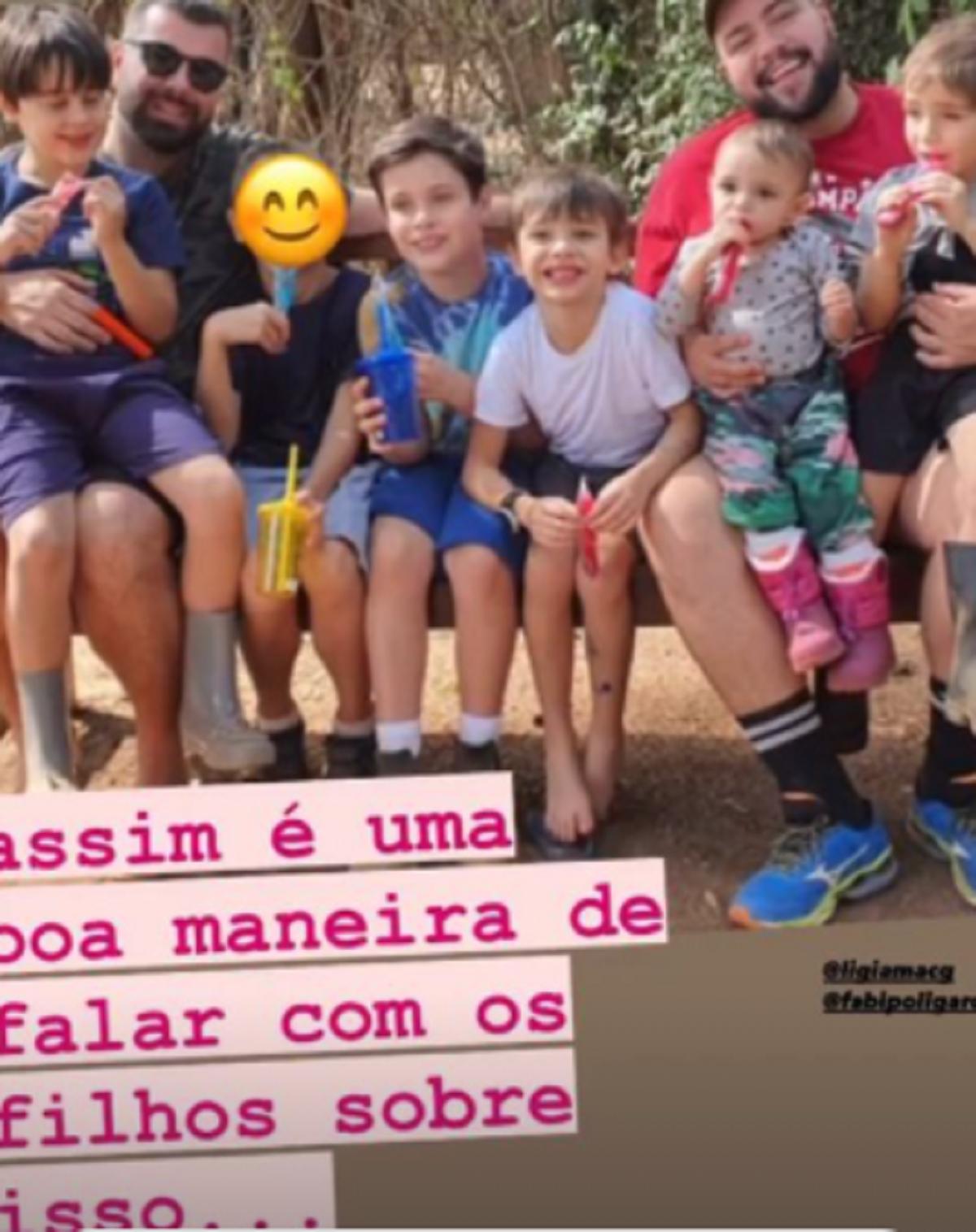 Postagem feita por Cintia Abravanel no Instagram em apoio ao filho