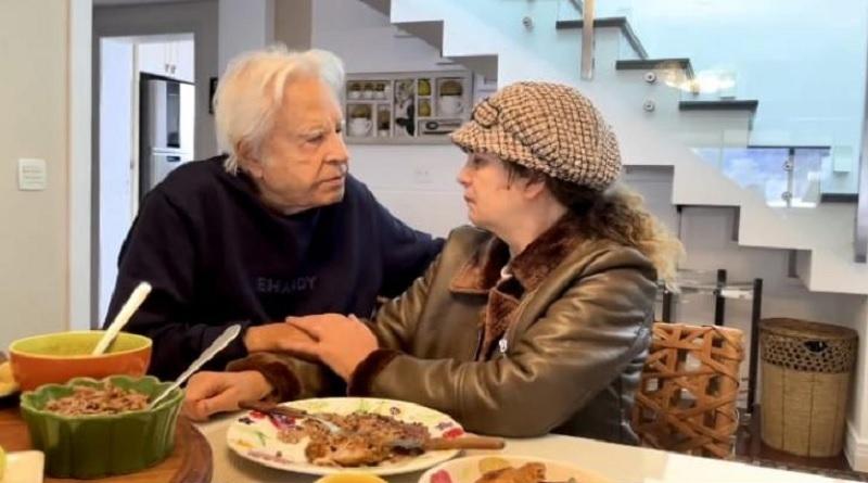 Cid Moreira e a mulher Fátima Sampaio