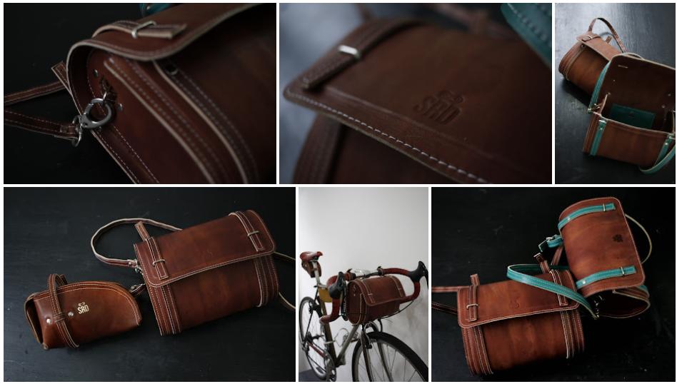 Os acessórios feitos pela SRD Brasil utilizam como material o couro, que, além de trazer para as peças todo aquele estilo classudo, garante mais durabilidade e conforto para o ciclista