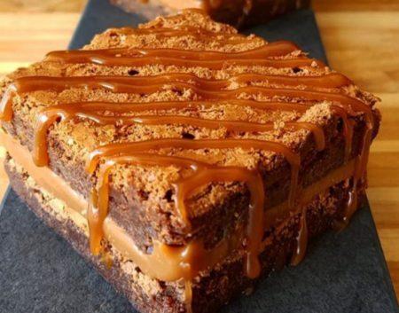 Brownie Recheado de Doce de Leite
