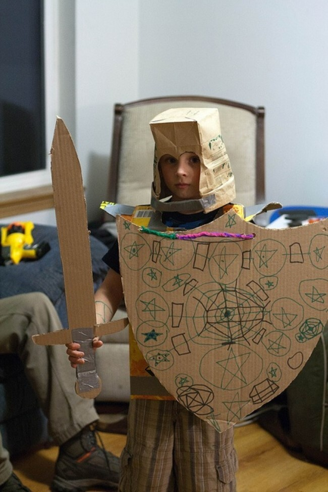 how to make samurai armor out of cardboard