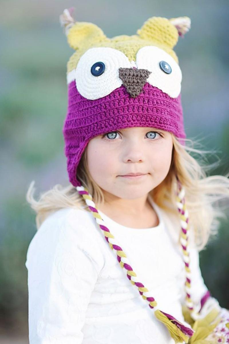 Gorros fofos e divertidos  fazem a cabeça  das crianças no frio 28046d51fab