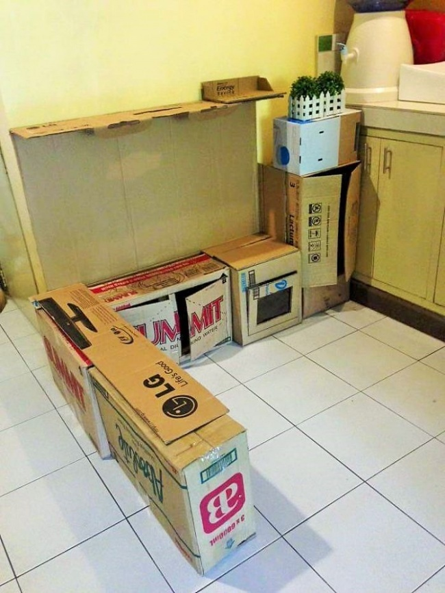 cozinha de papel o dicas para fazer uma para as crian as. Black Bedroom Furniture Sets. Home Design Ideas