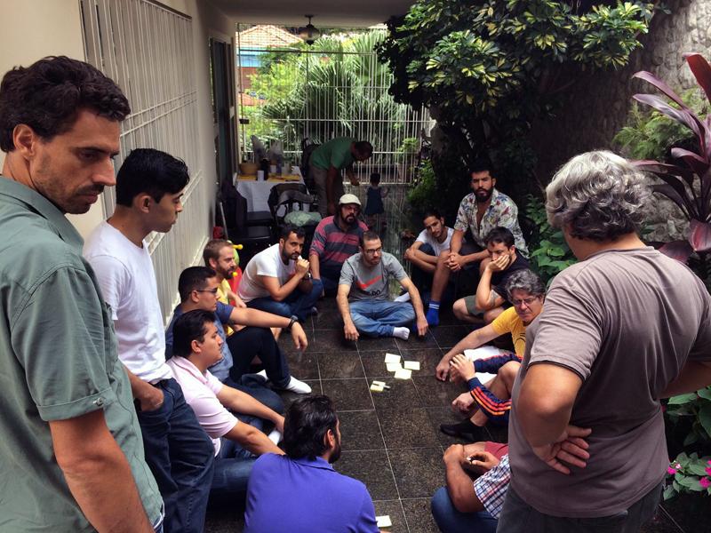Encontro 'A jornada do Pai' acontece no Espaço Nascente, zona oeste de São Paulo.