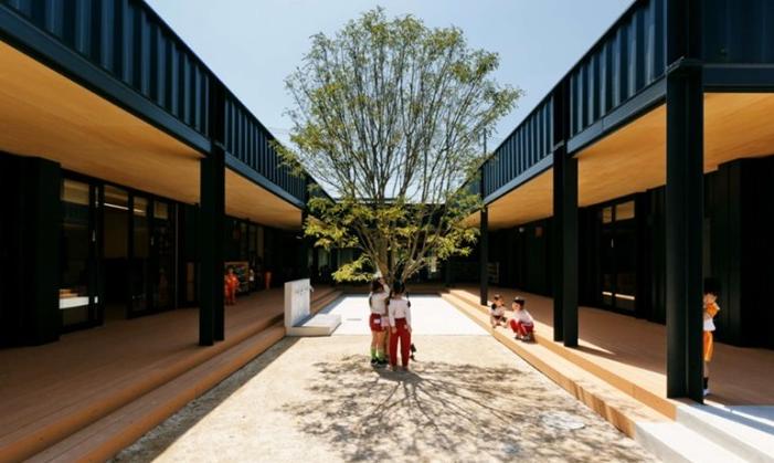 O aprendizado e a reflexão sobre sustentabilidade começam com a estrutura da escola.