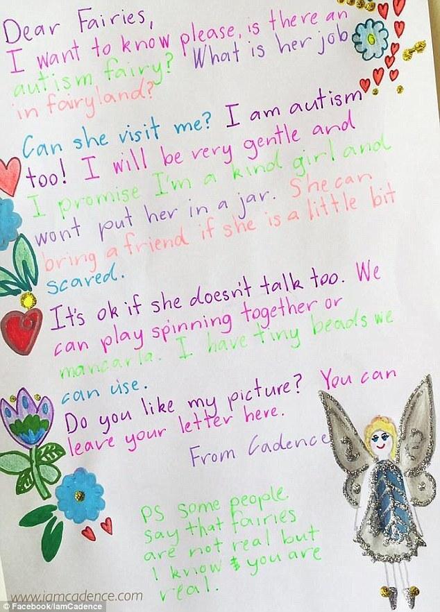 """""""Prometo não ser aquele tipo de criança que vai te colocar em um pote"""", diz a menina Cadence na carta para a Rainha das Fadas."""