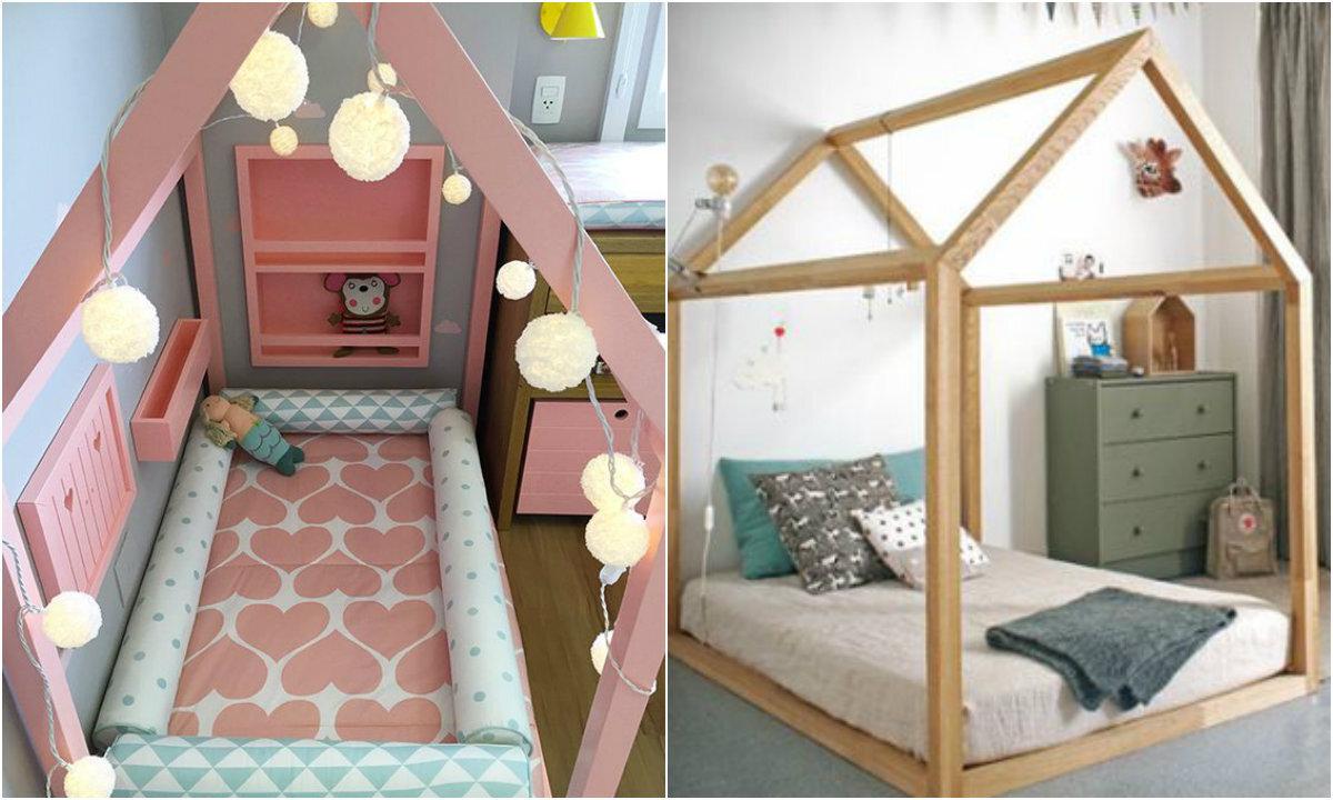 Fa a voc mesmo uma cama em forma de casinha - Camas en forma de casa ...