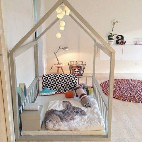 fa a voc mesmo uma cama em forma de casinha. Black Bedroom Furniture Sets. Home Design Ideas