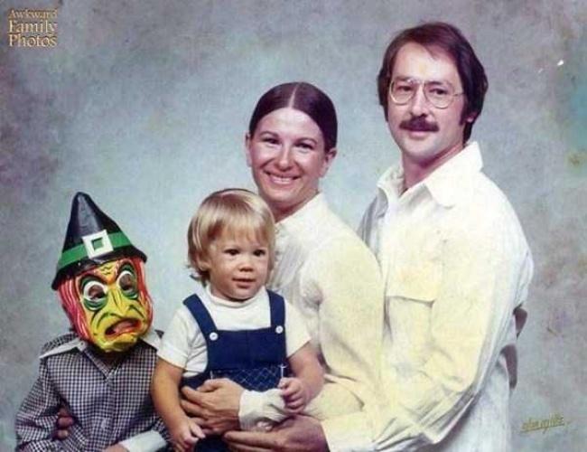 Traje espontâneo para a foto de família.