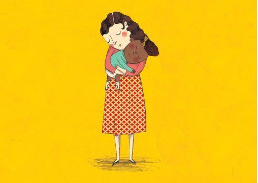 """No livro """"Flavia e o bolo de chocolate"""", a questão da adoção vem acompanhada de outra também urgente para a menina: a autoaceitação e a diversidade racial."""