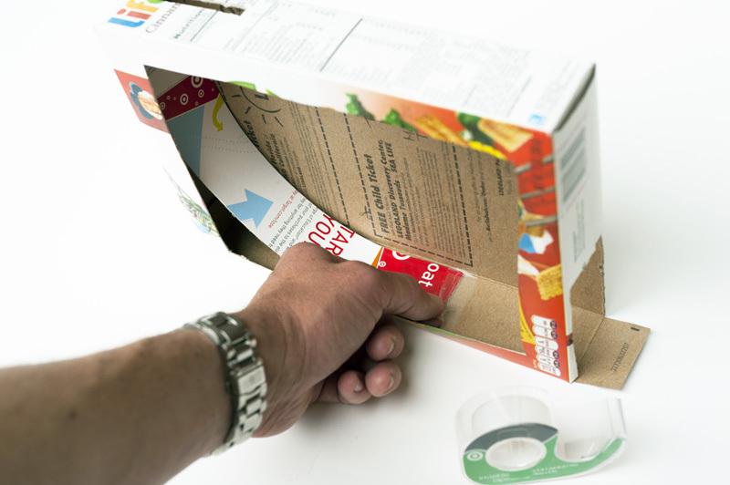 Rampinhas divertidas usando caixas de cereal.