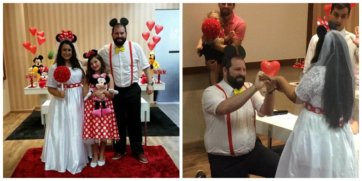 O casal recebeu cartões das famílias das crianças agradecendo pela festa e desejando muitas felicidades ao casamento.