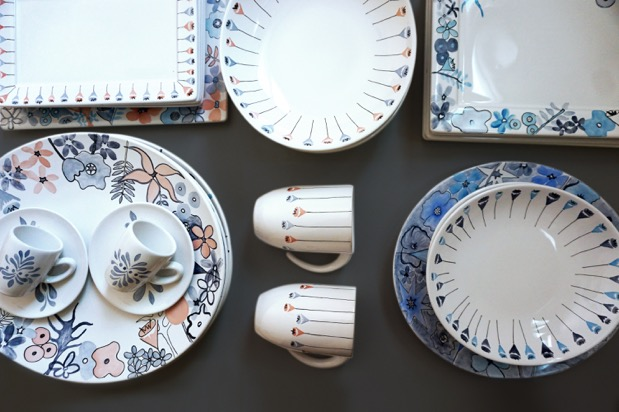 Porcelanas pintada a mão de Thais Mor