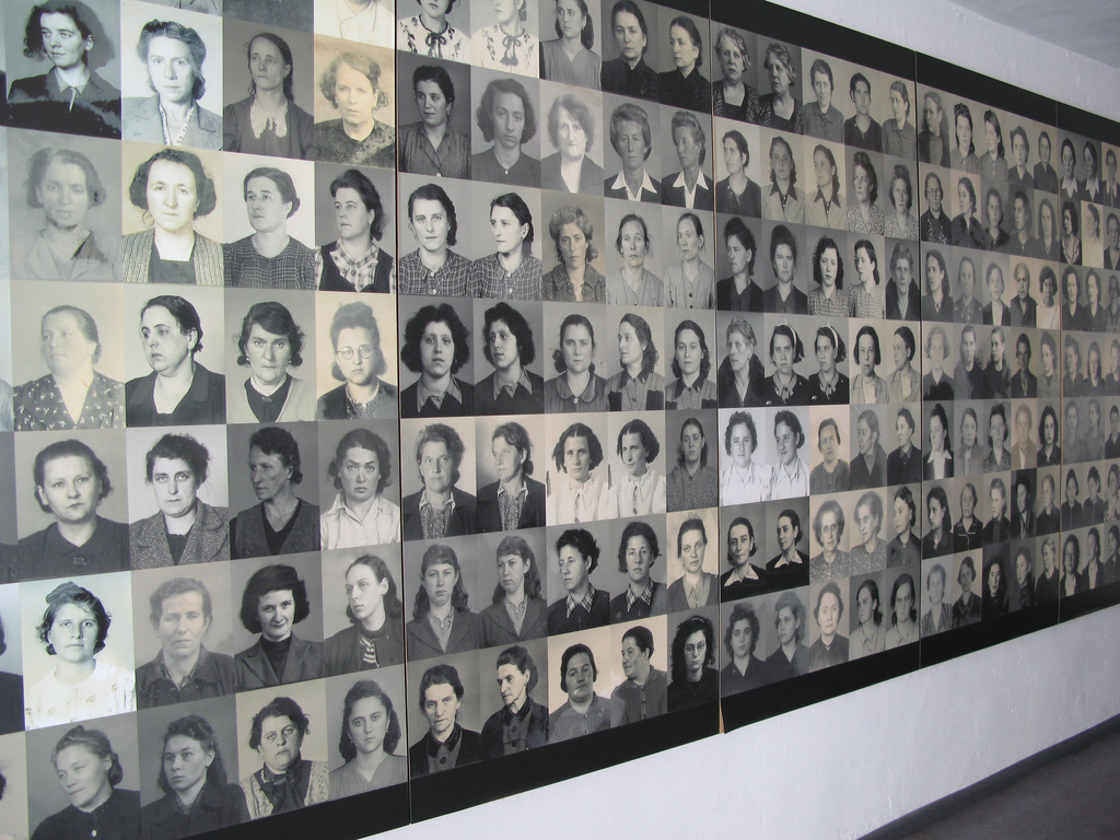 Fotos das mulheres que acredita-se que tenham morrido em Ravensbrück
