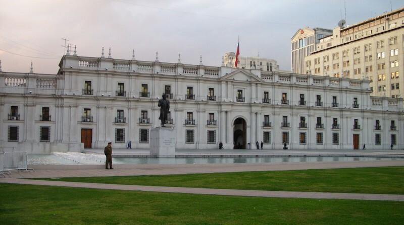 O Palacio de la Moneda é a sede do governo federal chileno