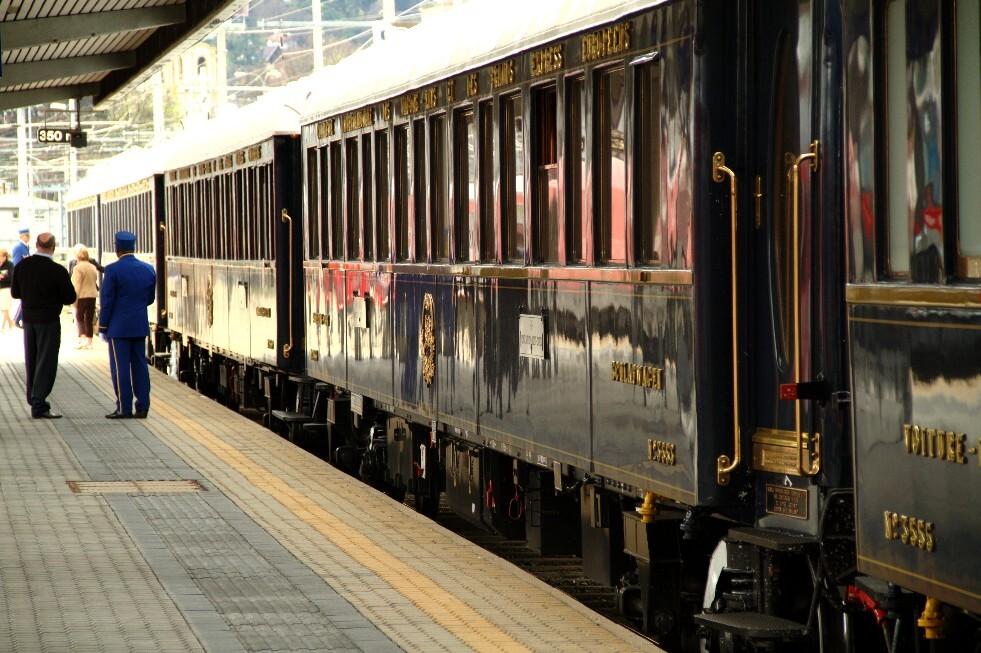 Orient-Express, durante parada em Innsbruck, na Áustria